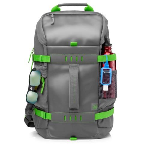 Фотография товара рюкзак для ноутбука HP 15.6 Odyssey Grey/Green (Montego) (L8J89AA) (50048582)