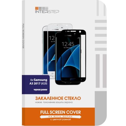 Фотография товара защитное стекло InterStep Full Screen Cover 0,3мм Sams. A3 2017 A320 Black (50048964)