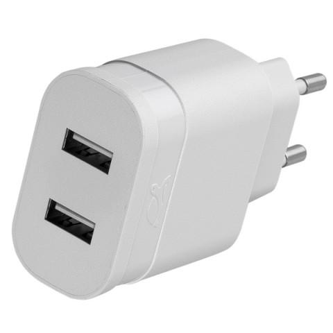 Фотография товара сетевое зарядное устройство RIVACASE 2 USB 2.4A (VA 4122 W00) (50049014)