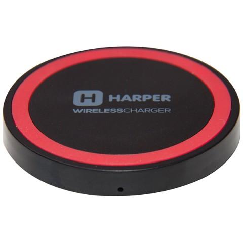 Фотография товара беспроводное зарядное устройство Harper QCH-2070 Black Red (50049275)