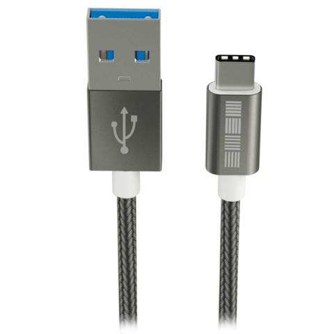 Фотография товара кабель USB Type-C InterStep USB 3.0 Neylon Space Gray 1m (IS-DC-TYPCUSNSG-000 (50049279)