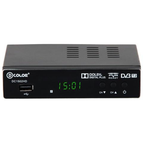 Фотография товара приемник телевизионный DVB-T2 D-Color DC1502HD (50049486)