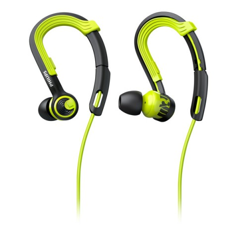 Фотография товара спортивные наушники Philips ActionFit NoLimits Black/Green (SHQ3400CL/00) (50049893)