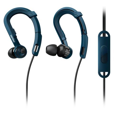 Фотография товара спортивные наушники Philips ActionFit NoLimits Blue (SHQ3405BL/00) (50049895)