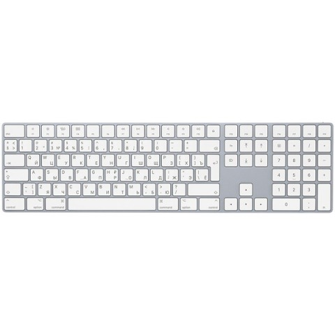 Фотография товара клавиатура беспроводная Apple Magic Keyboard with Numeric Keypad (MQ052RS/A) (50050152)