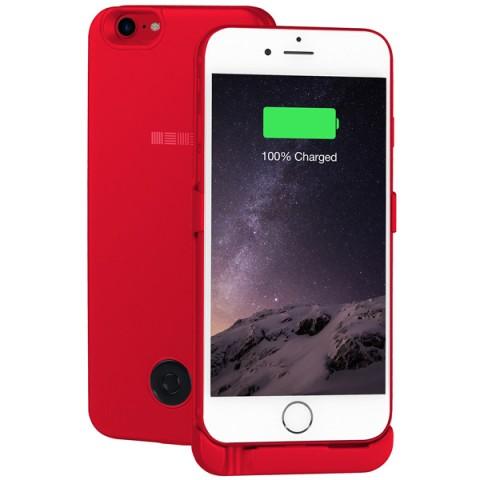 Фотография товара чехол-аккумулятор InterStep для iPhone 7/6 3000мАч Red (50050157)