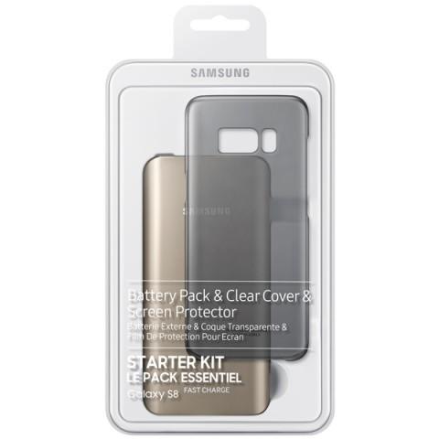 Фотография товара внешний аккумулятор Samsung Starter Kit Galaxy S8 Gold/Black (EB-WG95ABBRGRU) (50050868)