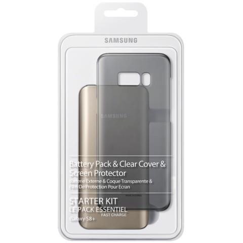 Фотография товара внешний аккумулятор Samsung Starter Kit Galaxy S8+ Gold/Black(EB-WG95EBBRGRU) (50050869)