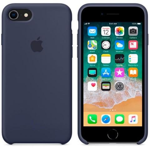 Купить чехол для iPhone Apple iPhone 8 / 7 Silicone Midnight Blue (MQGM2ZM/A) (50051048) в Москве, в Спб и в России
