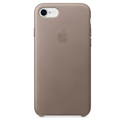 Купить чехол для iPhone Apple iPhone 8 / 7 Leather Case Taupe (MQH62ZM/A) (50051062) в Москве, в Спб и в России