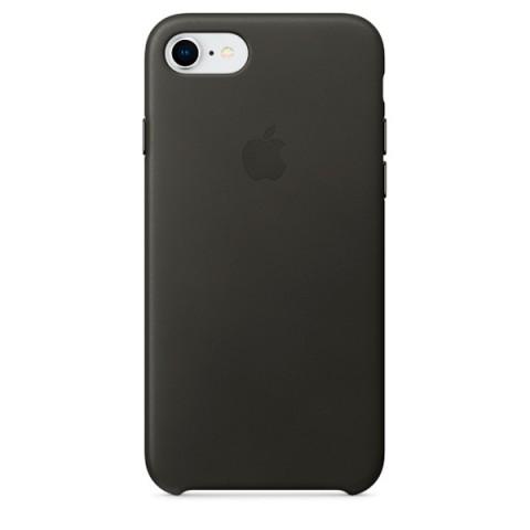 Купить чехол для iPhone Apple iPhone 8 / 7 Leather Charcoal Gray (MQHC2ZM/A) (50051067) в Москве, в Спб и в России
