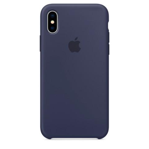 Фотография товара чехол для iPhone Apple iPhone X Silicone Case Midnight Blue (MQT32ZM/A) (50051086)