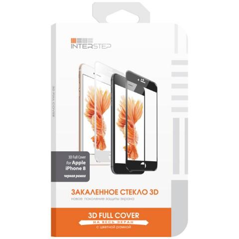 Купить защитное стекло для iPhone InterStep для iPhone 8 (IS-TG-IPHO83DBL-000B201) (50051122) в Москве, в Спб и в России