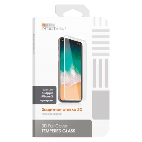 Фотография товара защитное стекло для iPhone InterStep для iPhone X (IS-TG-IPHONX3DB-000B201) (50051126)