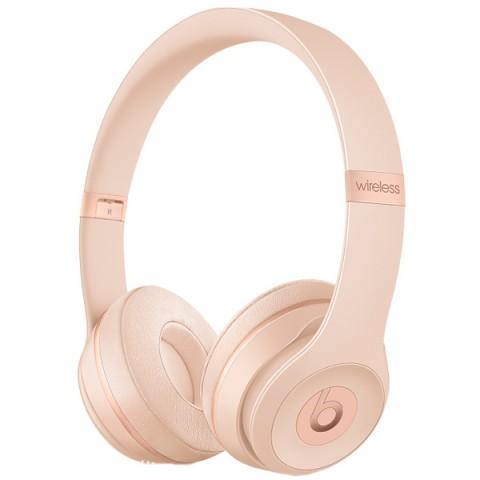 Купить наушники Bluetooth Beats Solo3 Wireless Matte Gold (MR3Y2ZE/A) (50051193) в Москве, в Спб и в России