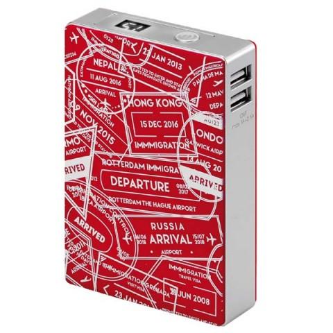 Фотография товара внешний аккумулятор InterStep Travel 2USB/2A+1A Display 12000 mAh Red (50051255)