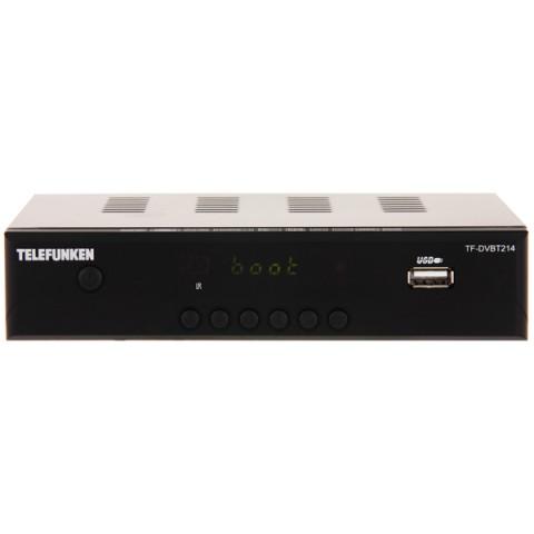Купить приемник телевизионный DVB-T2 Telefunken TF-DVBT214 (50051266) в Москве, в Спб и в России