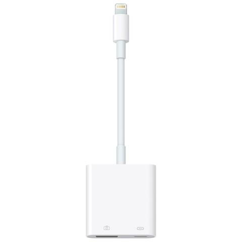 Купить переходник для iPod, iPhone, iPad Apple Lightning to USB3 Camera Adapter (MK0W2ZM/A) (50051303) в Москве, в Спб и в России