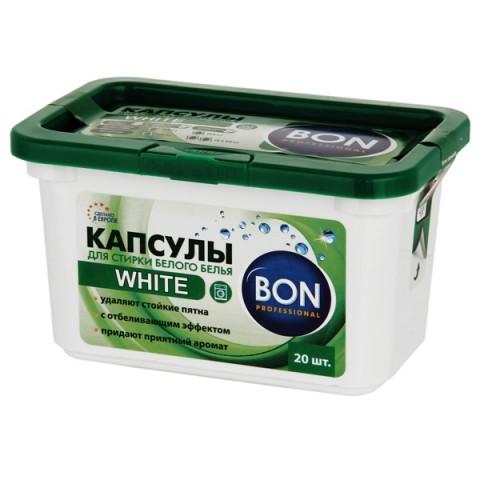 Фотография товара стиральный порошок Bon для стирки белого белья BN-201-2 20шт. (50051388)