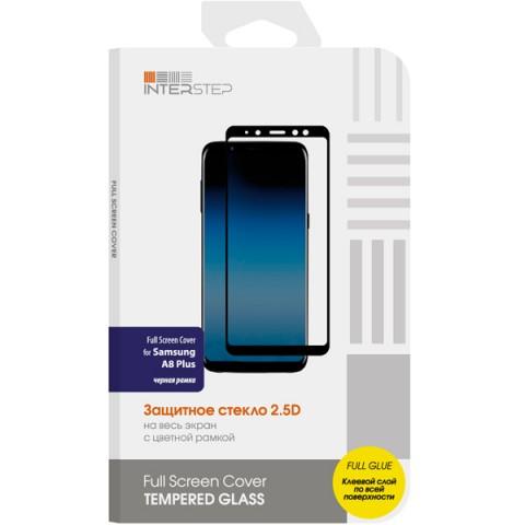 Фотография товара защитное стекло InterStep Full Screen Cover FG для Samsung Galaxy A8+ Black (50052539)