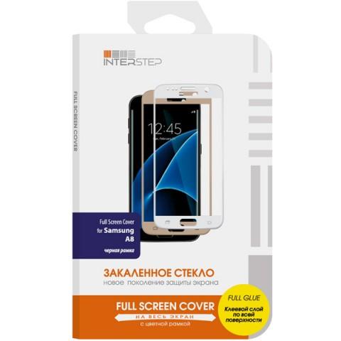 Фотография товара защитное стекло InterStep Full Screen Cover FG для Samsung Galaxy A8 Black (50052550)
